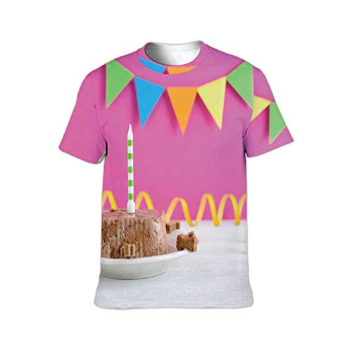 Happy Birthday Cake for Dog from Wet Food and Treats with Candle on - Party - Germany,Men/Women Hip Hop t-Shirt Animal