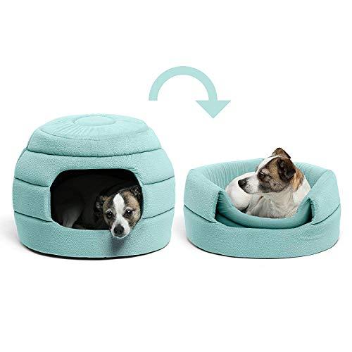 PAWZRoad犬ハウス犬子屋犬のハウス室内ハチの巣形お洒落かわいい両用折りたたみ2wayクッション取り外し可能グリーン