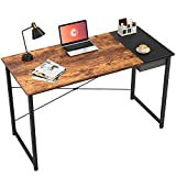 Cubiker Writing Computer Desk 39' Home Office Study Laptop Table, Modern Simple Style Desk with Drawer, Rustic Black