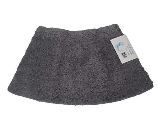 cazsplash Viertelkreis Mini gebogen Dusche Matte, Baumwolle, Grau, 42x 26x 5cm