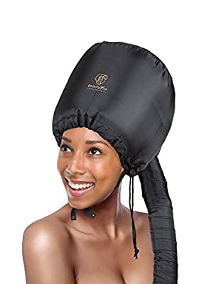 Soft Bonnet hooded hair dryer Attachment for Natural Curly Textured Hair Care  Drying,Styling,Curling,Deep Conditioning Mask Cap  Upgraded Soft Adjustable Large hooded bonnet for Hand Held hair Dryer