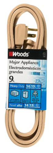 Woods 0045 9-Foot Air Conditioner Appliance Cord,...