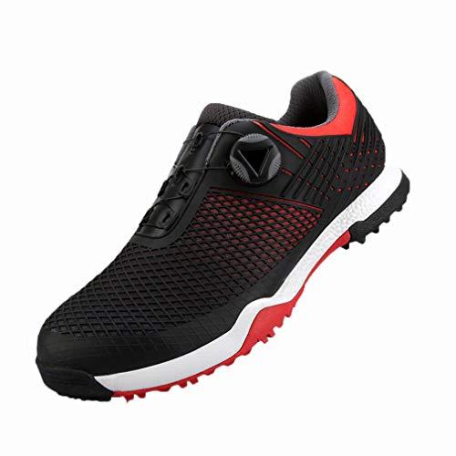 YXX Zapatos De Golf Sin Pinchos, Control De Rendimiento, Impermeable Y Transpirable Estabilidad De Potencia, Mejora De La Estabilidad, Zapatos Atléticos,Negro,40