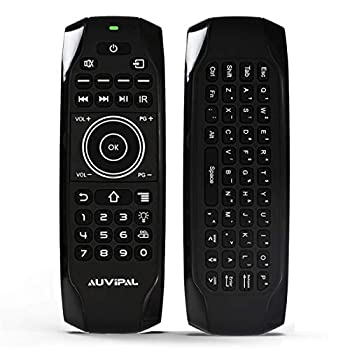 AuviPal G9F Mini Bluetooth Keyboard Remote Combo Rechargeable Backlit Wireless Remote Control Includes 11 IR Learning Buttons Made for Firestick 4K/Lite/Cube and Nvidia Shield - No Voice Function