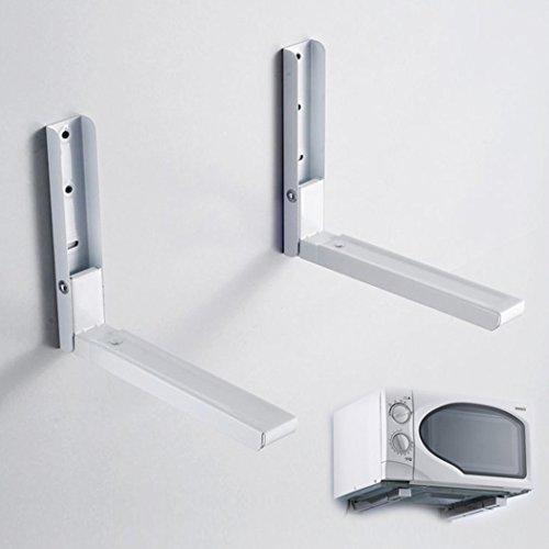 Ultrey Faltbare Mikrowellenhalter 40kg Mikrowellenhalterung Wand Mikrowelle Halterung Küchenregal aus Edelstahl (28.5-45.5cm)