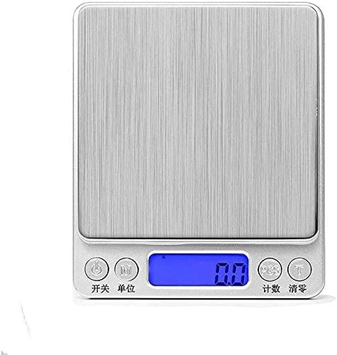 Báscula digital de alimentos Báscula electrónica de cocina para el hogar, cocina, carga USB, báscula de joyería, mini escalas de gramo de precisión delgadas, de 0,01 g (tamaño: 2000 g/0,1 g)