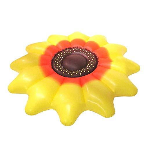 WYFDM Aufblasbare Sich hin- und herbewegende Reihe, riesiges aufblasbares Sun-Blumen-Pool-Floss-Reihen-Fahrt-auf dem Schwimmen-Ring-Wasser-Feiertags-Partei-Spielzeug