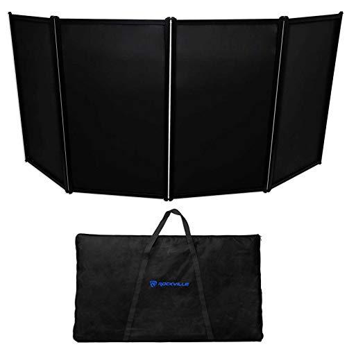 Rockville DJ Event Facade Light Weight Metal Frame Booth+Travel Bag+Scrim (RFAAC)