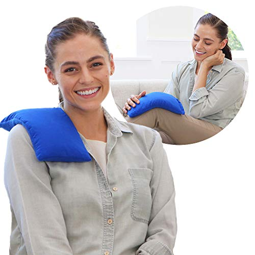 My Heating Pad Microwavable for Pain Relief | Moist Heat Pad for Cramps, Muscles, Joints, Back, Neck and Shoulders | Microwave Hot Pack | Heat Compress Pillow | Hot Cold Therapy - Blue