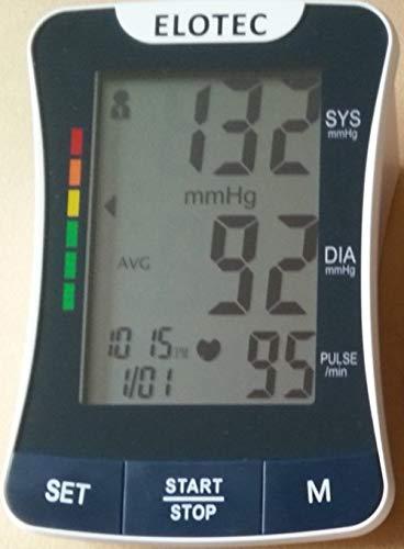 HIGH TECH Blutdruckmessgerät Oberarm Netzteil oder Batterien - für Einzelmessungen mit PC Langzeit Darstellungs Software Blutdruckmesser Blutdruck-Gerät