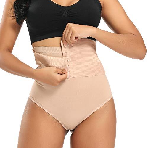WOWENY - Mutande da donna per addominali, modello sexy beige. M