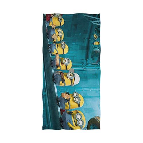FETEAM Minions Toalla de baño Toalla de Playa Uso como Yoga Viajes Camping Gimnasio Toallas de Piscina en Carrito de Playa Sillas de Playa Talla única ~ AQ9