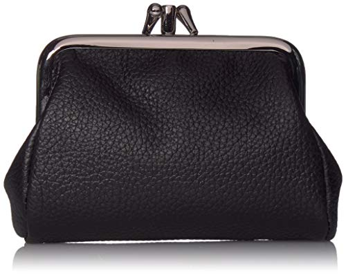 Buxton womens Hudson Pik-me-upTriple Frame coin purses, Black, One Size US