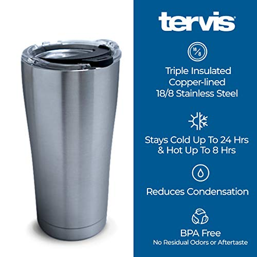 Product Image 10: Tervis Retro Camping Stainless Steel Insulated Tumbler with Lid, 20 oz, Silver