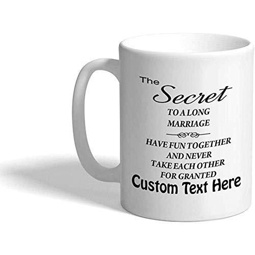 Tazza da caffè personalizzata 330 ml Ispirazione Motivazione Matrimonio Tazza da tè in ceramica Testo personalizzato