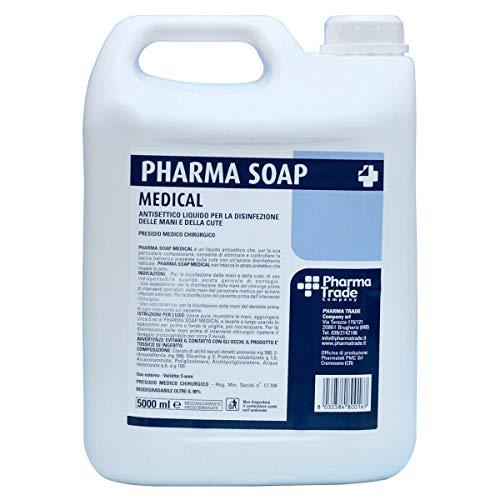 SAPONE DISINFETTANTE P.M.C. ANTISETTICO PHARMA SOAP TANICA DA 5 LITRI