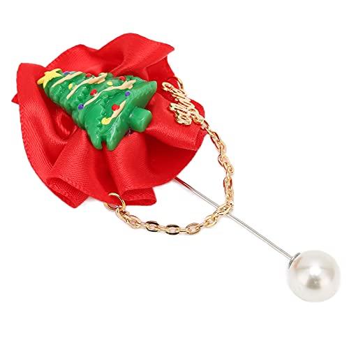 Broche para mujer, diseño de árbol de Navidad
