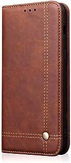 Huawei Nova 4 シェル, Moonmini 財布 シェル, 女の子 プレミアム PU レザー フリップ シェル カバー ?と カード スロットs & キックスタンド の Huawei Nova 4 - Dark Brown