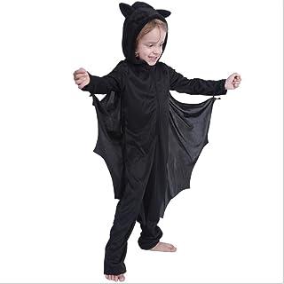 أسود عباءة هالوين زي وزي من مجموعة تأثيري 5فافيش أسود بذلة وزي (اللون: 120 سم)