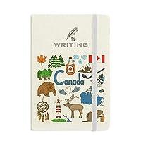 カナダ風景動物の国旗 ノートブッククラシックジャーナル日記A 5を書く