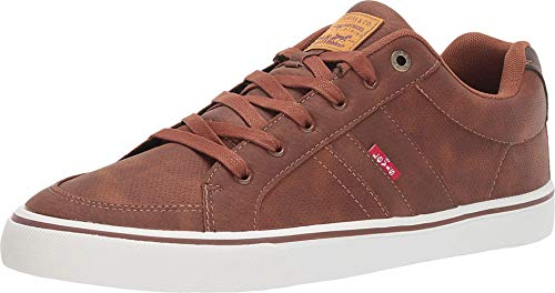 Levi's Mens Turner Tumbled Wax Casual Fashion Sneaker Shoe, Tan/Brown, 10.5 M