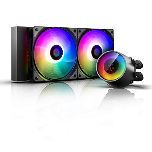 DeepCool Castle 240 RGB V2 Sistema di Raffreddamento Anti-Leak Radiatore da 240mm Dissipatore a...