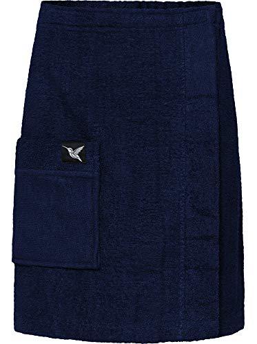 Ladeheid Kilt Toalla de Sauna de Terry Cloth Hombre LA40-195 (Azul Oscuro29, L-XL)