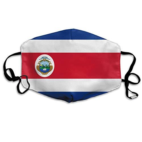 Vlag van Costa Rica #2 Gezicht Cover Verstelbare Oorlussen Ademende Herbruikbare Outdoor Mond Cover Stofhoes voor Volwassenen Kinderen