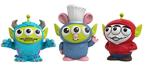Pixar Alien Remix Toy Story Aliens Miguel, Sulley & Remy 3-Pack Toys, Disney and Pixar Movie Character Figures Approx 3-in, Collectors Gift Ages 6 Years & Up