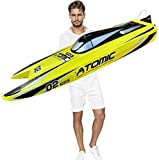 Ready to Run, 27.5' Inches Remote Control Speed Boat S011 Electric RC Boat Top Speed 65KM/H Brushless Motor Excellent Functions for Hobbies Player Adult Boys Age 14+