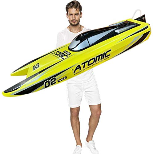 """Ready to Run, 27.5"""" Inches Remote Control Speed Boat S011 Electric RC Boat Top Speed 65KM/H Brushless Motor Excellent Functions for Hobbies Player Adult Boys Age 14+ (Fast Express Offers)"""