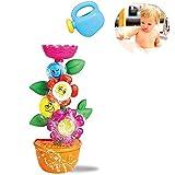 DQTYE Bebé Baño Spin Flower Juguete Surtido Creativo Ventosas Bañera Juego de Agua Diversión Estación de Ducha Fuente para Niños Pequeños