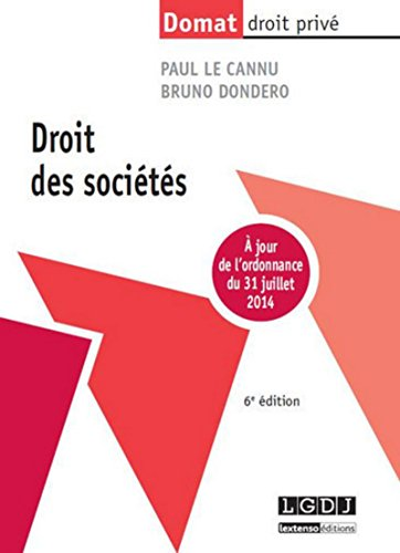 Droit des sociétés, 6ème Ed.