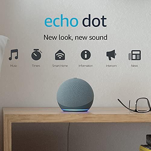 Echo Dot (4th generation)   Smart speaker with Alexa   Twilight Blue