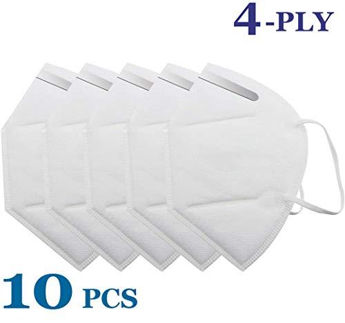 IUKURU Einweg-Luftfilter KN95 gegen Staub, Verschmutzung, Partikel, Pollen, Rauch, 10 Stück