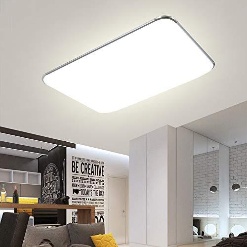 Deckenlampe LED Deckenleuchte Dimmbar 90W mit Fernbedienung Wohnzimmer Lampe Modern Deckenleuchten Kueche Badezimmer Flur Schlafzimmer