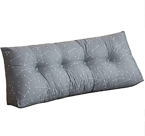 TGFVGHB Cojín de cuña para respaldo de cama, oficina, cojín lumbar triangular, respaldo, sofá cama, cojín triangular, grande, tres (color: G-60 × 50 × 20 cm)