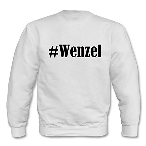 Reifen-Markt Sweatshirt Damen #Wenzel Größe S Farbe Weiss Druck Schwarz