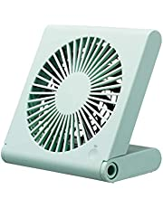 ドウシシャ 卓上扇風機 スリムコンパク?#21435;榨ˉ?3電源(AC USB 乾電池) 風量3段階 静音 ピエリア ブルー FSU-106U BL