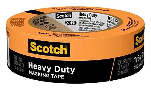 3M 2020+ Cinta de enmascarar Scotch Heavy Duty: 1.41 in. x 60 yds. (naranja)