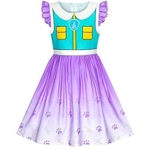 Sunny Fashion Vestido para niña Patrulla de la Pata Everest Disfraz Fiesta de Halloween 7 años