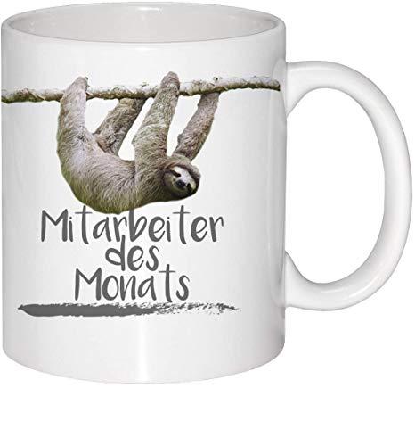 Guten-Morgen-Becher Becher Faultier Mitarbeiter des Monats Sloth Tasse Spruch