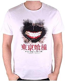 QWEASZER Giappone Tokyo Ghoul Maschera Tokyo Ghoul Kaneki Ken Zipper Mask Giappone Anime Cosplay Maschera in Pelle PU Maschera Cosplay,Black 3D-OneSize