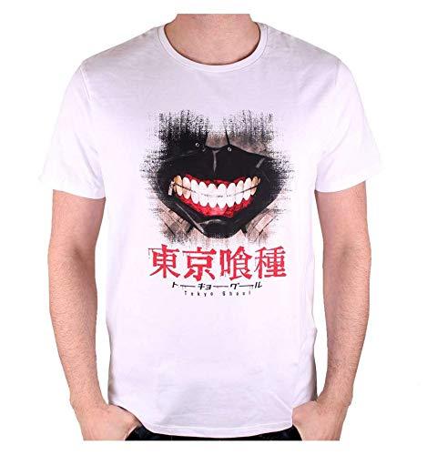 Cotton Division T-Shirt da Uomo Tokyo Ghoul Kaneki Maschera di Cotone Bianco - XL