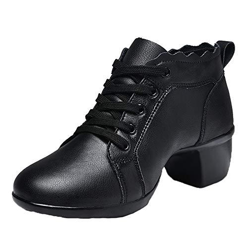 XFQ Zapatos De Baile De La Mujer, De Piel Suave De Salón...