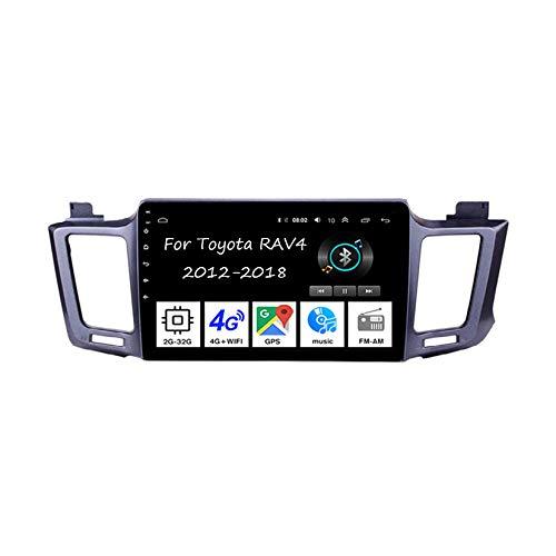 Android - Radio de coche con pantalla táctil de 9 pulgadas para Toyota RAV4 2012-2018, accesorios de coche multimedia, control de volante con navegación Plug and Play, 4 núcleos 2G+32G