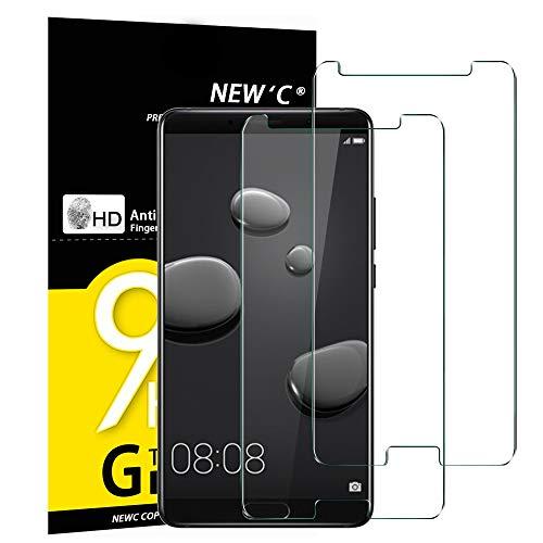 NEW'C 2 Pezzi, Vetro Temperato Compatibile con Huawei Mate 10, Pellicola Prottetiva Anti Graffio, Anti-Impronte, Durezza 9H, 0,33mm Ultra Trasparente, Ultra Resistente
