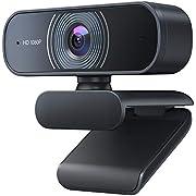 Crosstour Webcam 1080P mit Mikrofon, PC Laptop Desktop USB 2.0 Full HD Webkamera für Videoanrufe, Studieren, Konferenzen, Aufzeichnen, Spielen