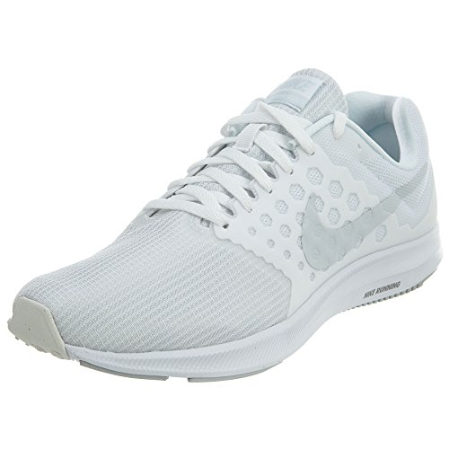 Nike Downshifter 7 White/Pure Platinum Womens Running Shoes