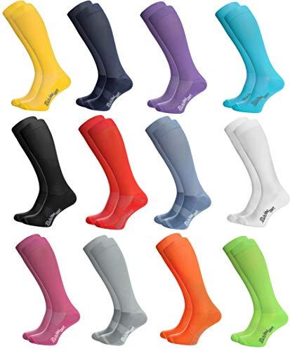 Rainbow Socks - Femme Homme Chaussettes Hautes Sport - 12 paires - Multicolore - Taille UE 39-41